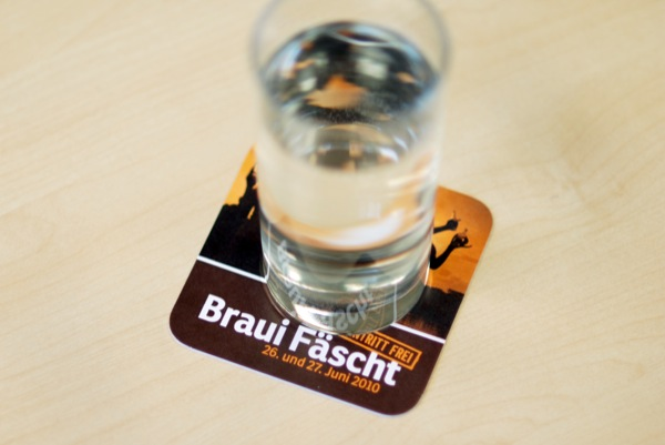 Bierdeckel Flyer Seerestaurant zur Brauerei