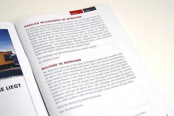 Infobroschüren Heidiland