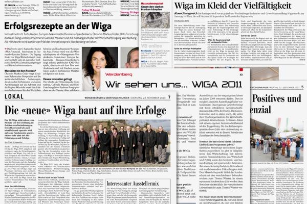WIGA 2011 Pressearbeit