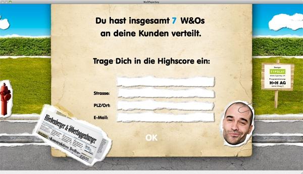 W&O WIGA 2011 Game Paperboy