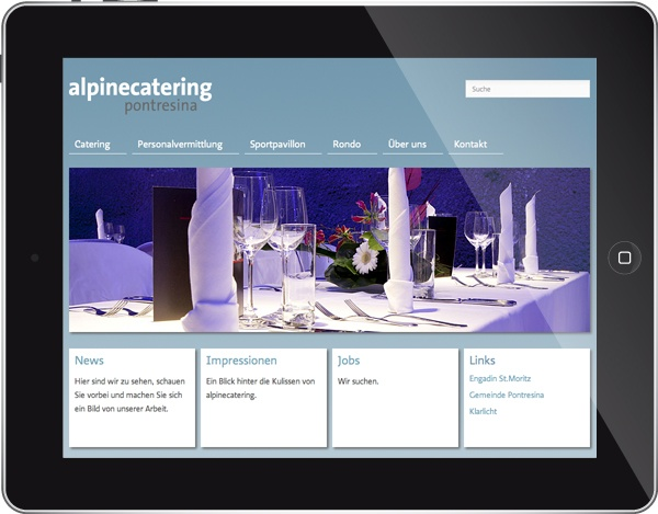 alpinecatering Pontresina Internet