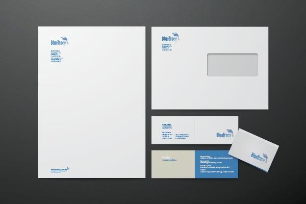 Bluetrace Blue Trace Geschäftsdrucksachen
