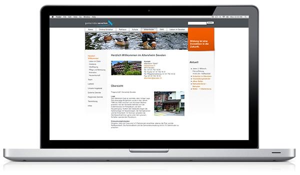 Homepage Gemeinde Sevelen