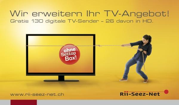 Rii-Seez-Net Weihnachtsaktion Inserat TV