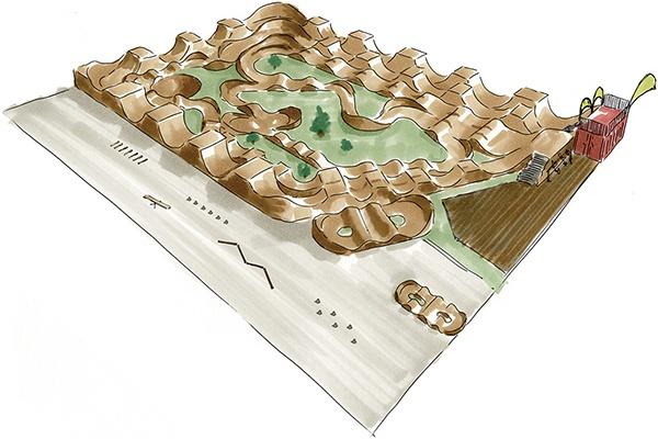 Visualisierung Pumptrack Bikepark Walenstadt