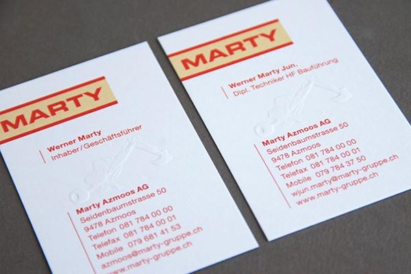Marty Azmoos AG Geschaeftsdrucksachen