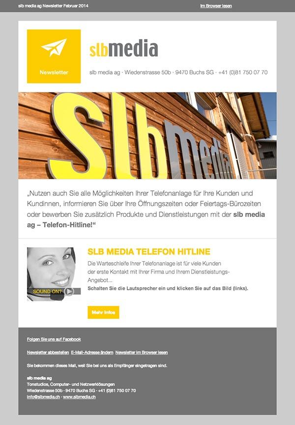 slb media ag Newsletter