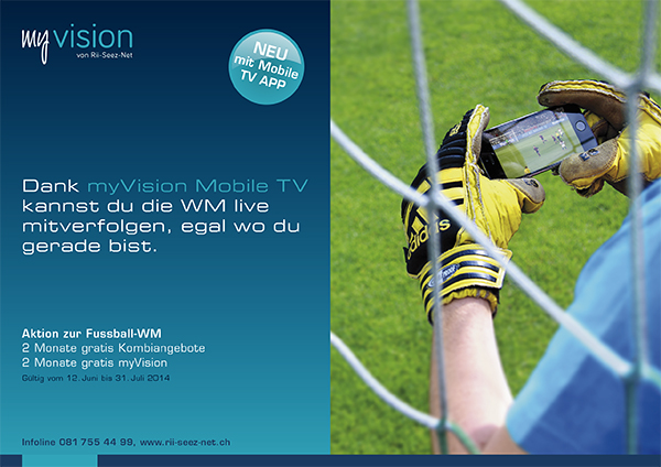 MyVision WM-Aktion Mobile TV Flyer