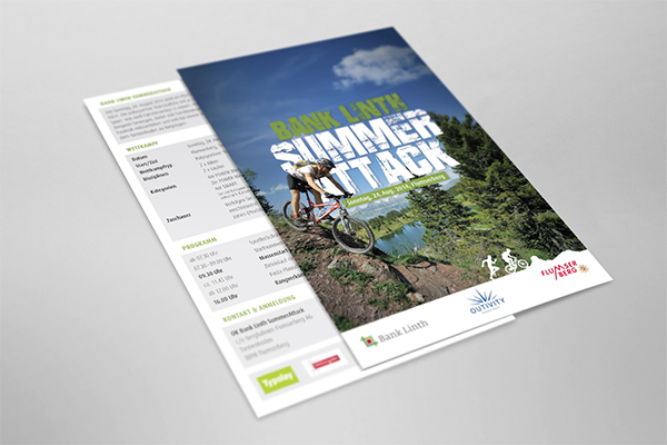 Bank Linth Summer Attack Flyer