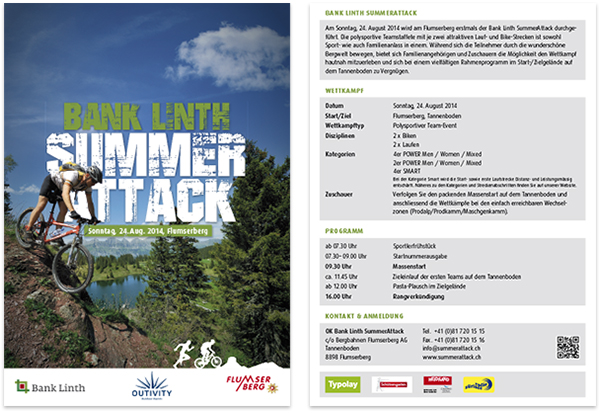 Bank Linth Summer Attack Flyer