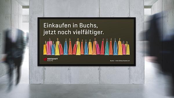 Wirtschaft Buchs Plakat F12