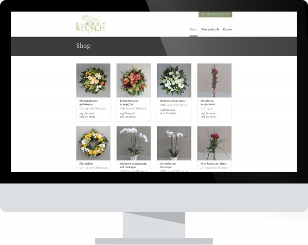 Blumen Keusch Buchs Internet