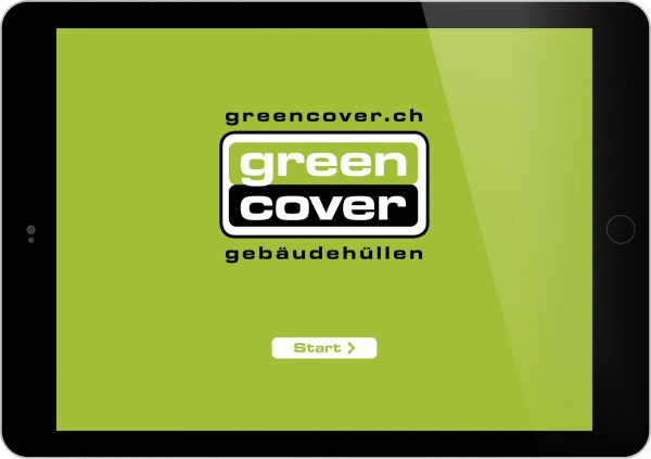 Greencover AG Tablet Präsentation